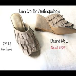 New Lien Do for Anthropologie Taupe Gen Suede 7.5